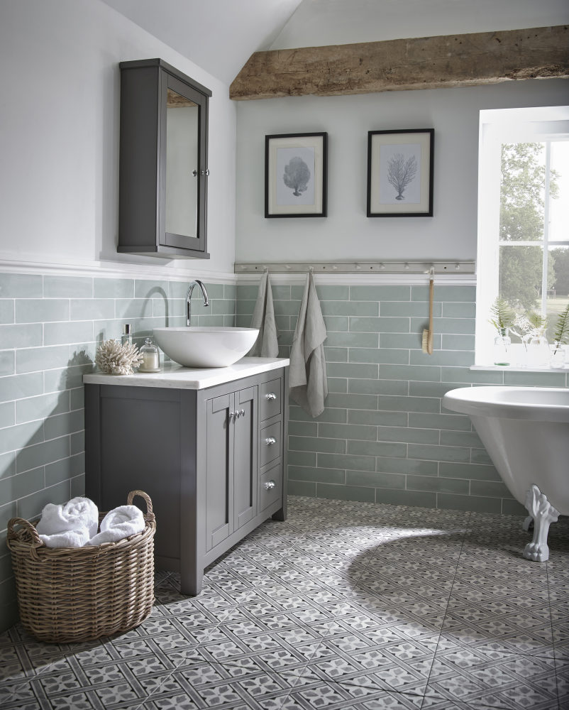 Laura Ashley Bathroom Collection Adds Charcoal Finish To Marlborough Range