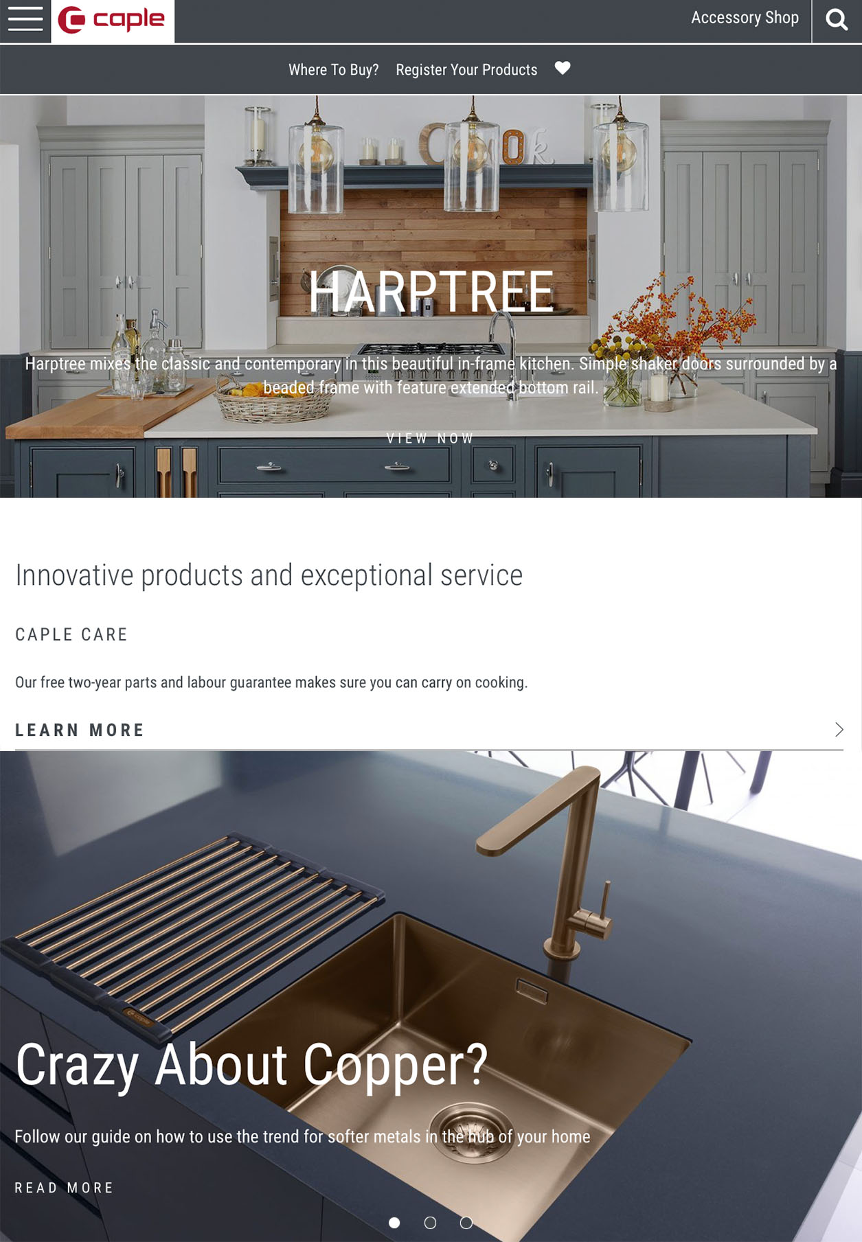Style and functionality are key for Caple's new website